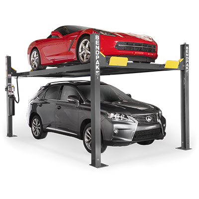HD-9XW 4,082-kg. Capacity / Four-Post Lift / Standard Width / High Lift