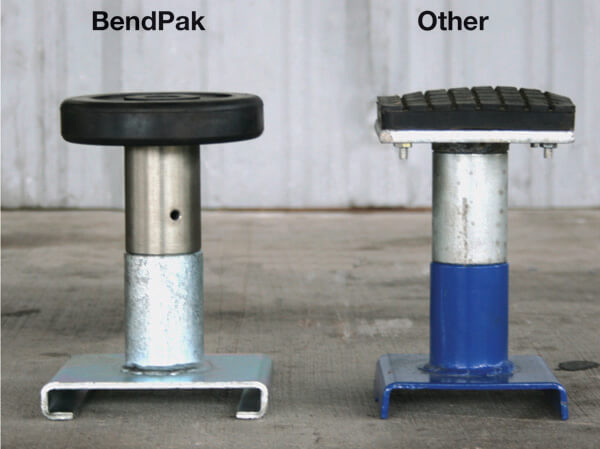 Mid-Rise Car Lift Extended Pad Height Comparison