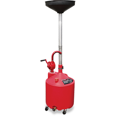 RD-18G 68 L (18-gal) Upright Portable Oil Drain with Pump