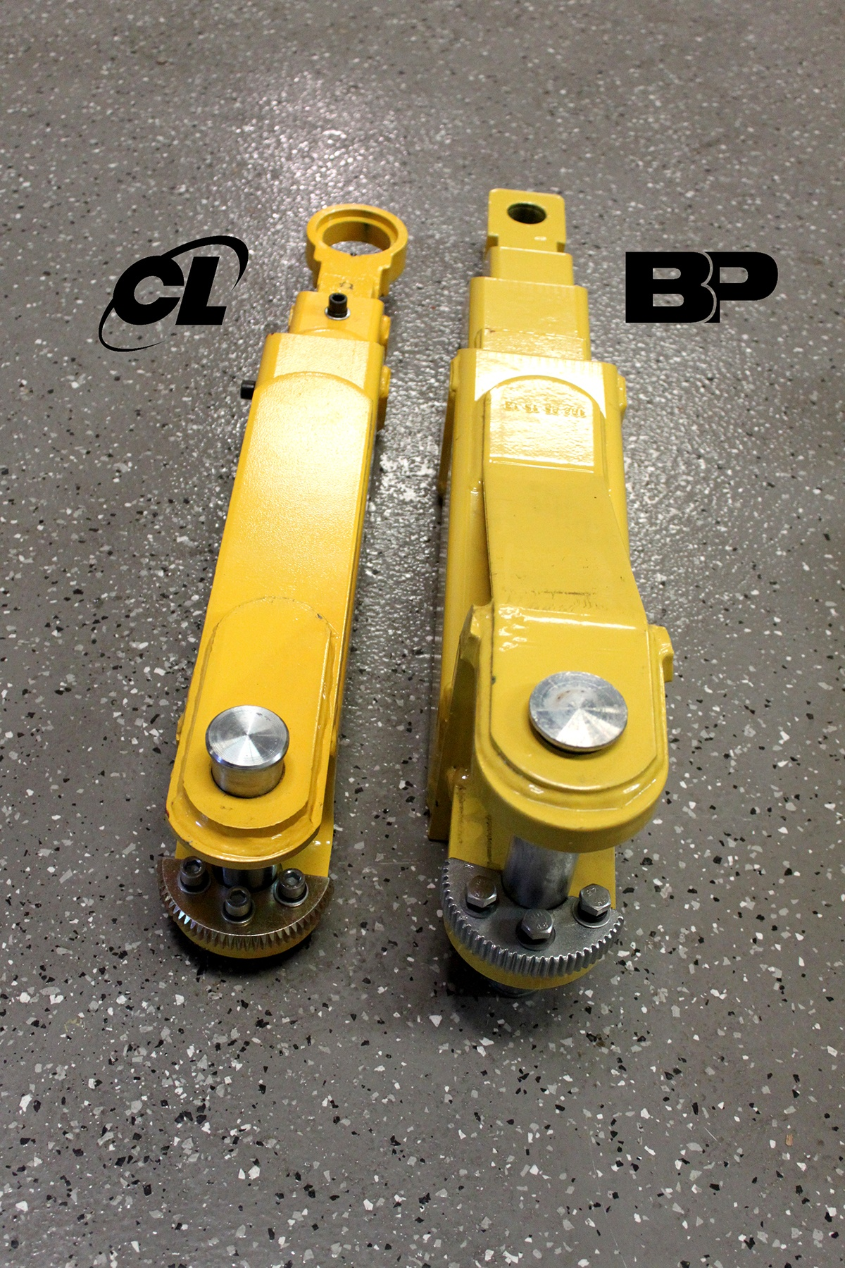 Lifting Arm Pin Two-Post lifts BendPak vs. Challenger